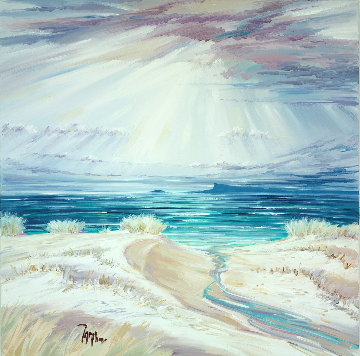 Summer Lights Over Eigg II by tom barron -  sized 24x24 inches. Available from Whitewall Galleries